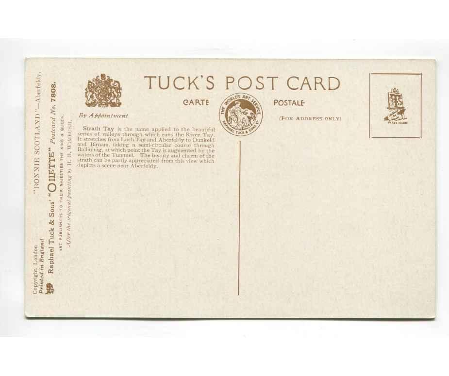 aberfeldy strath tay vintage postcard