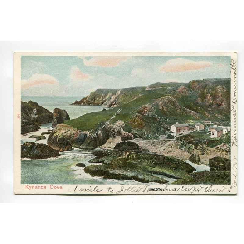 kyance cove vintage postcard