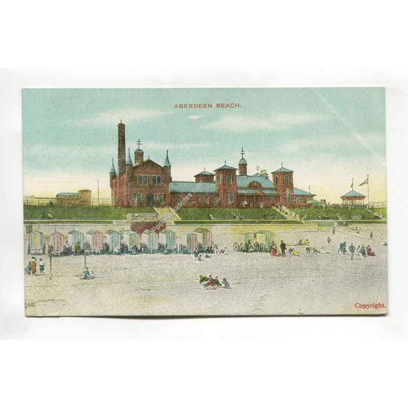 aberdeen beach vintage postcard