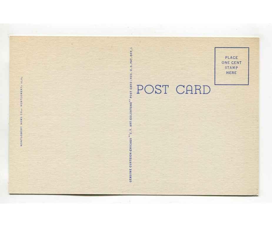US Post Office Auburn Alabama Postcard