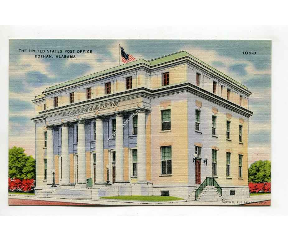 United States Post Office Dothan Alabama Postcard