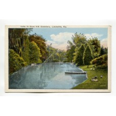 Lake in Cave Hill Cemetery Louisville KY